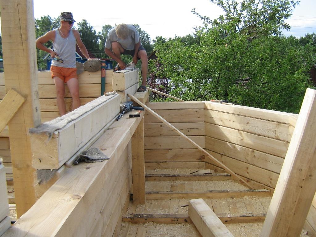 Строим из профилированного бруса своими руками
