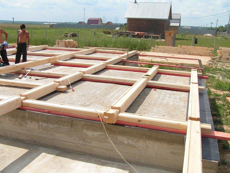 как делать фундамент для брусового дома