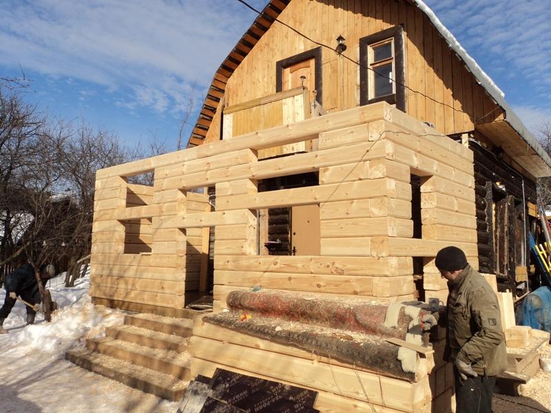 Пристроить веранду из бруса к деревянному дому